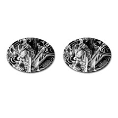 Gray girl  Cufflinks (Oval)