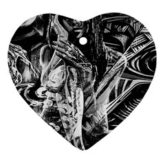 Gray girl  Heart Ornament (Two Sides)