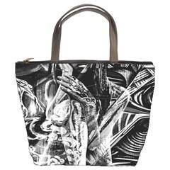 Gray girl  Bucket Bags