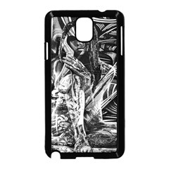 Gray Girl  Samsung Galaxy Note 3 Neo Hardshell Case (black)