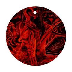 Red girl Ornament (Round)