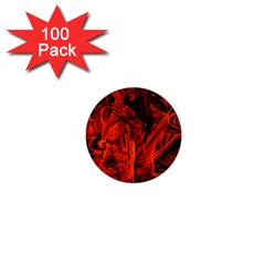 Red girl 1  Mini Buttons (100 pack)