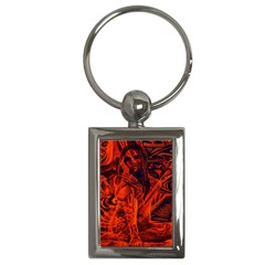 Red girl Key Chains (Rectangle)