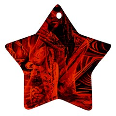 Red girl Star Ornament (Two Sides)