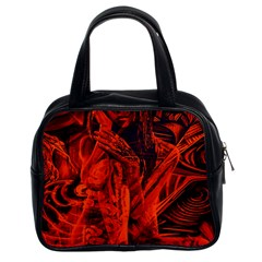 Red girl Classic Handbags (2 Sides)