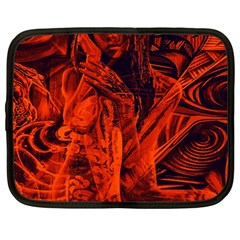 Red girl Netbook Case (XL)