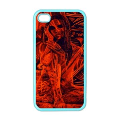 Red girl Apple iPhone 4 Case (Color)