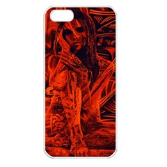 Red girl Apple iPhone 5 Seamless Case (White)