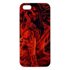 Red girl iPhone 5S/ SE Premium Hardshell Case