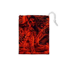 Red girl Drawstring Pouches (Small)
