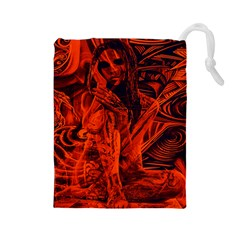 Red girl Drawstring Pouches (Large)