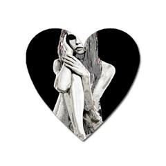 Stone girl Heart Magnet
