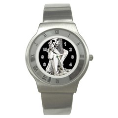 Stone girl Stainless Steel Watch
