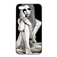 Stone girl Apple iPhone 4/4s Seamless Case (Black)