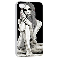 Stone girl Apple iPhone 4/4s Seamless Case (White)