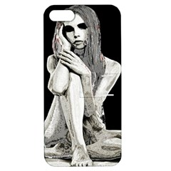 Stone girl Apple iPhone 5 Hardshell Case with Stand