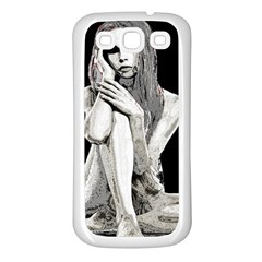 Stone girl Samsung Galaxy S3 Back Case (White)