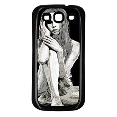 Stone girl Samsung Galaxy S3 Back Case (Black)