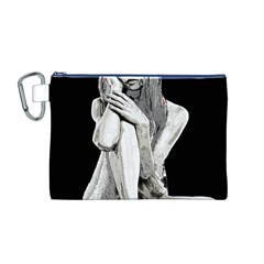 Stone girl Canvas Cosmetic Bag (M)