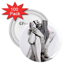 Stone girl 2.25  Buttons (100 pack)
