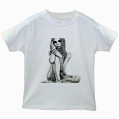 Stone girl Kids White T-Shirts