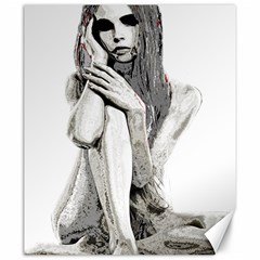 Stone girl Canvas 20  x 24