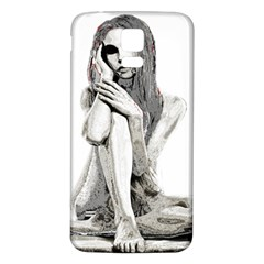 Stone girl Samsung Galaxy S5 Back Case (White)