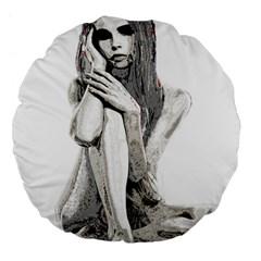 Stone girl Large 18  Premium Flano Round Cushions