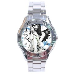 Angel Stainless Steel Analogue Watch