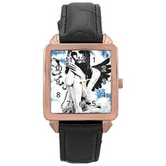 Angel Rose Gold Leather Watch