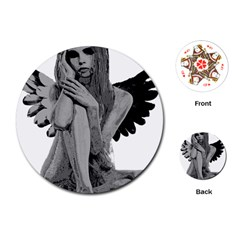 Stone angel Playing Cards (Round)