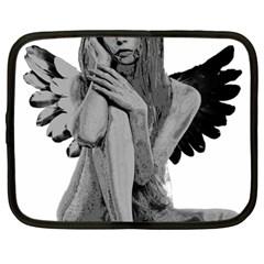 Stone angel Netbook Case (Large)