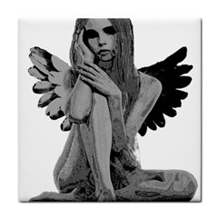 Stone angel Face Towel