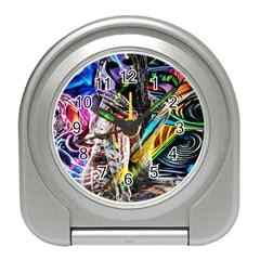 Graffiti girl Travel Alarm Clocks