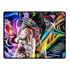Graffiti girl Fleece Blanket (Small)