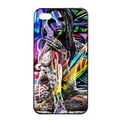Graffiti girl Apple iPhone 4/4s Seamless Case (Black)