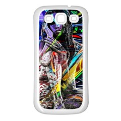 Graffiti girl Samsung Galaxy S3 Back Case (White)
