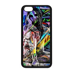 Graffiti girl Apple iPhone 5C Seamless Case (Black)