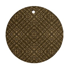 Wooden Ornamented Pattern Ornament (Round)