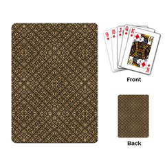 Wooden Ornamented Pattern Playing Card