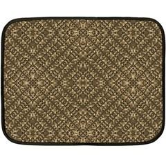 Wooden Ornamented Pattern Fleece Blanket (Mini)