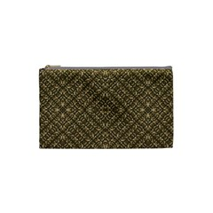 Wooden Ornamented Pattern Cosmetic Bag (Small)