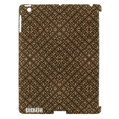 Wooden Ornamented Pattern Apple iPad 3/4 Hardshell Case (Compatible with Smart Cover)