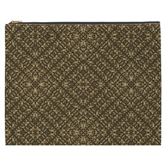 Wooden Ornamented Pattern Cosmetic Bag (XXXL)