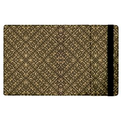 Wooden Ornamented Pattern Apple iPad 3/4 Flip Case