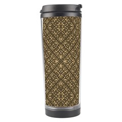 Wooden Ornamented Pattern Travel Tumbler