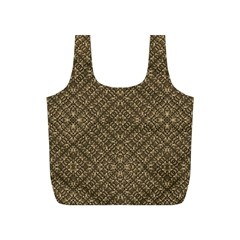 Wooden Ornamented Pattern Full Print Recycle Bags (S)