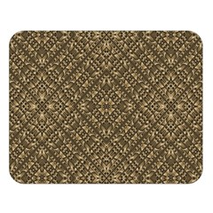 Wooden Ornamented Pattern Double Sided Flano Blanket (Large)