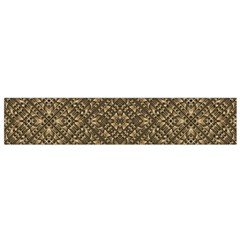 Wooden Ornamented Pattern Flano Scarf (Small)