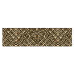 Wooden Ornamented Pattern Satin Scarf (Oblong)